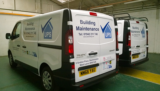 Supplied and fitted UPS corporate Vehicle Livery