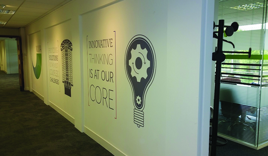 Corporate Wall Graphic