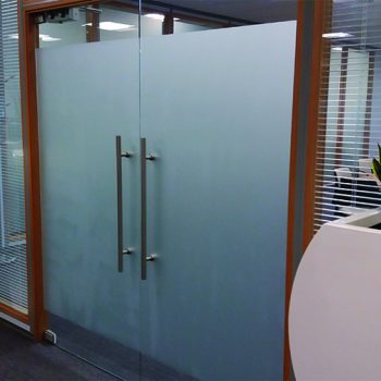 Boardroom in Bollore logistics in Liverpool with privacy glass manifestation