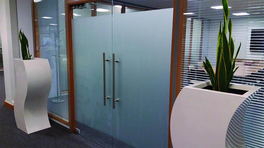 Glass Manifestation Supplied and Fitted at Bollore Logistics – Liverpool