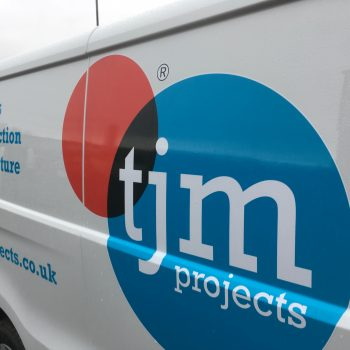Close up image of the TJM Vehicle Graphics