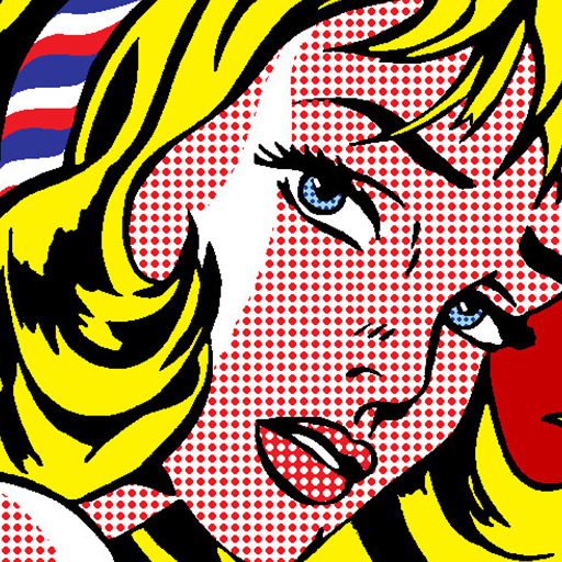 pop art printed wallpaper