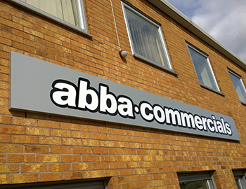 Folded tray panel fitted for Abba Commercials