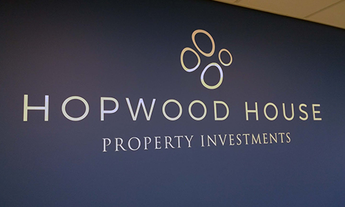 Hopwood House internal signage