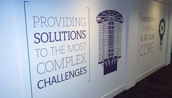 Internal wall graphics supplied and fitted Warrington