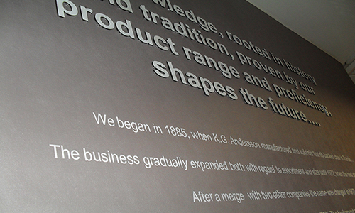 Printed Wallpaper with Stand off lettering