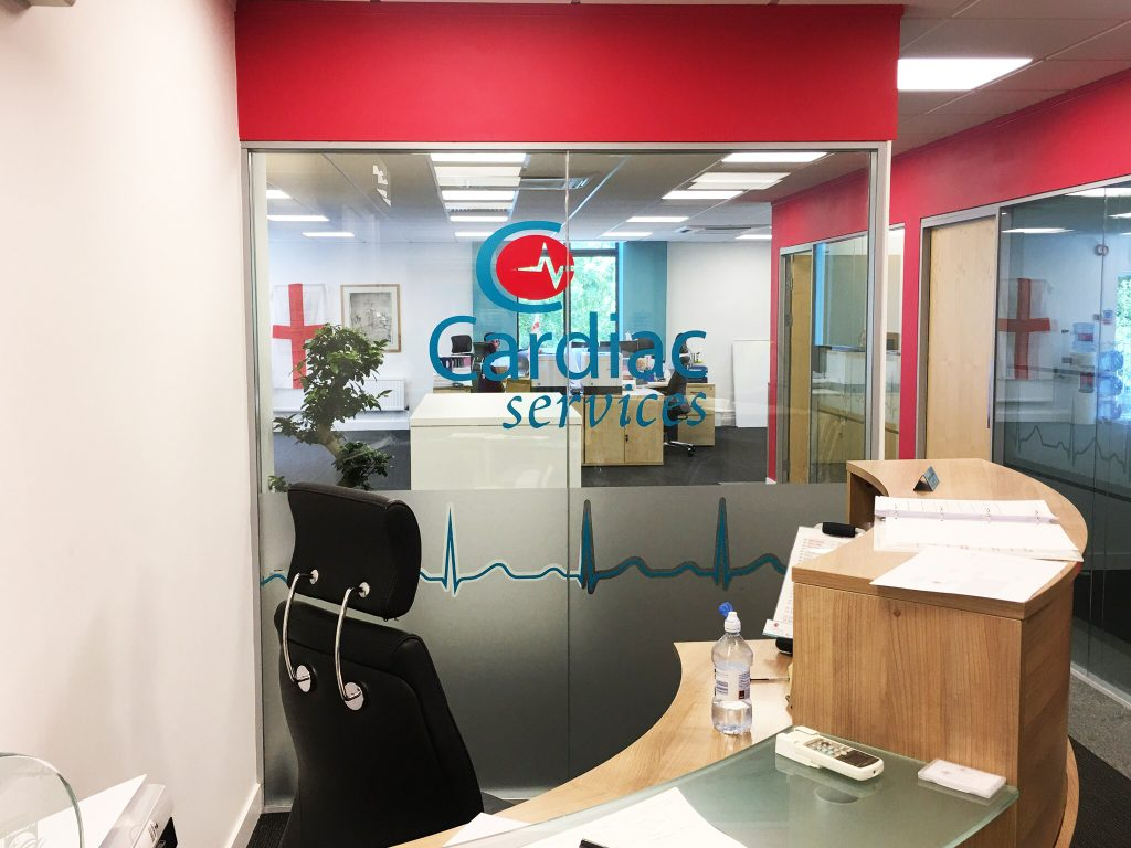Cardiac Services Internal Glass Manifestation, Manchester