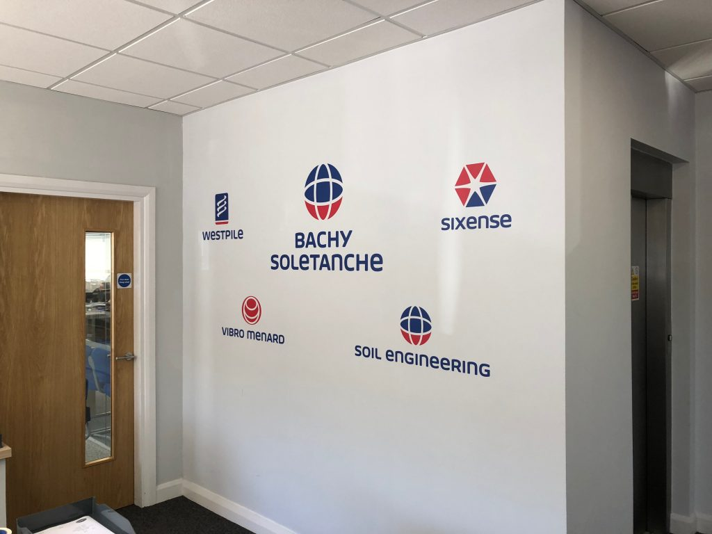 Bachy Soletanche Reception Wall Graphic