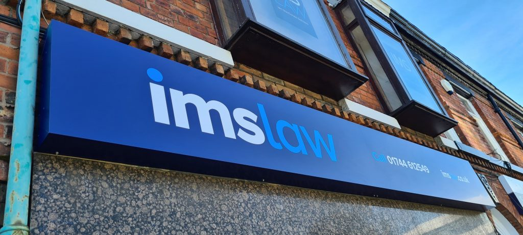 IMS Law External Signage St Helens